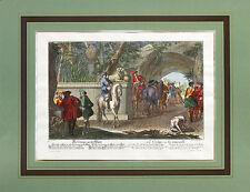 Hertz Daniel Johann / Ridinger Elias Die Gruppe an der Wand Poster Bild 40x50cm