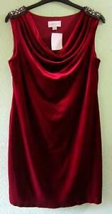 Women's Ronni Nicole Deep Red Velvet Sleeveless Dress Size 20 Fashion/Party