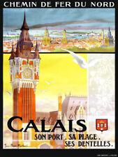 Affiche chemin de fer Nord - Calais