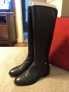 COLE HAAN Black Leather Knee High Fashion Riding Boots Size 6