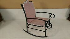 Handcrafted Metal Doll Rocking Chair with Seat Cushion Seat is 7x7 and back is 8
