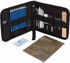 Bellofy 33-Piece Professional Art Kit - Drawing and Sketch Kit with Pencils, Era