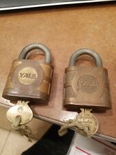 Two Yale & Towne MFG. CO. made In U.S.A Padlocks With Keys