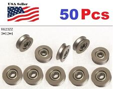 50 X V623ZZ 623VV V Groove Guide Pulley Rail Ball Bearings Metal (3mm*12mm*4mm)