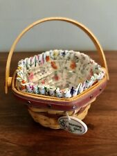 New ListingLongaberger Basket May Series Miniature Morning Glory Combo Liner Tie-on Insert