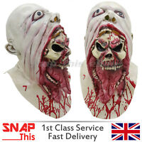 Zombie Mask Cosplay Latex Full Face Horror Adult Halloween Party Walking Dead