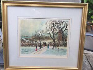Four Helen Bradley prints all signed