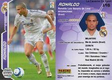 N°198 RONALDO # BRAZIL REAL MADRID CARD CARTE PANINI LIGA 2006