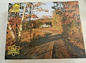 """Golden Guild New 1000 Piece Jigsaw Puzzle """"Autumn Cottage"""" Made in USA"""