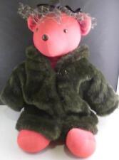 "Vtg Lauren Bearcall NABCO Vanderbear 20"" Fur Coat w/ Tag Teddy Bear Exclnt"