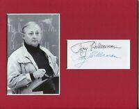 Tony Hillerman New Mexico Mystery Author Rare Signed Autograph Photo Display