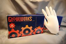 100 PCS GloveWorks Latex & Latex Examination Gloves Powder Free Heavy Duty -5mil