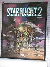 Electronic Arts StarFlight 2 original Poster ECA Star Flight VideoGame ART print