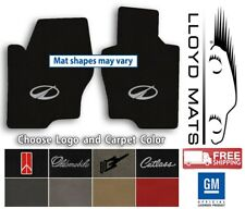 Oldsmobile Vehicles- 2pc Classic Loop Carpet Floor Mats - Choose Color & Logo