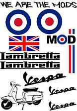 MODS Pro Quality Decals The Who Lambretta Vespa We Are The Mods Scooter Stickers