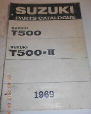 1969 69 SUZUKI T500 T 500 T500-II PARTS CATALOG UE SHOP SERVICE REPAIR MANUAL