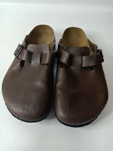 Birkenstock Birki's Brown Clog Mule  Women Summer Trend Sandals Shoe Sz 39 L8 M6