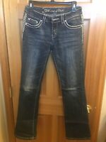 Miss Chic Jeans BLING Flap Pocket Size 7 Excellent Condition