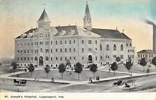 Logansport Indiana~St Joseph's Hospital~1910 Blue Sky Artist Drawn Postcard