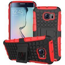 Schutzhülle Cover Zubehör Rot für Samsung Galaxy S6 Edge G925 G925F Kappe Tasche