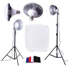 Photography Lighting Kit | 60cm Tent | 2x50w LED White Daylight Bulbs
