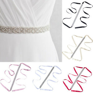 Vintage Women Luxury Rhinestone Bridal Bridal Belt Sash Handmade Wedding Dress