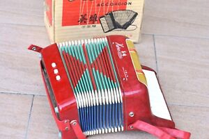 VINTAGE HERO ACCORDION-SHANGHAI CHINA, Key Model.  GREAT ConditioN!!
