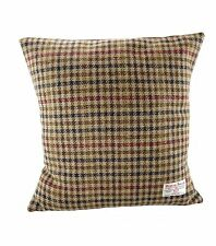 Harris Tweed Square Cushion Brown Dogtooth Lb4002