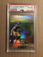 2017 TJ WATT JJ WATT ILLUSIONS ROOKIE RC #27 STEELERS PSA 10 GEM MINT