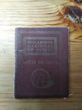 libro reglamento nacional de futbol 1954