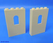 LEGO N°6006789 / 1x4x5 PANEL avec Château Fenêtre beige / 2 pièces