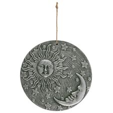 Silver effect Sun and Moon Plaque - Terracotta Garden Wiccan