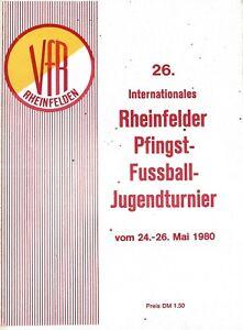 26th RHEINFELDER YOUTH TOURNAMENT MAY 1980 WEST BROMWICH ALBION / BAYERN MUNICH