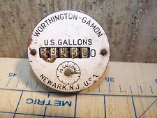 Vintage Worthington Gamon 10 Gallon Water Meter gauge, Newark NJ
