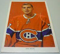 Original 1963-64 Chex Cereal Montreal Canadiens Dave Balon Hockey Photo Card