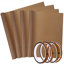 4 Pack PTFE Teflon Sheet 12 x 16 and 4 Pack Heat Resistant Sublimation Tape for Non Stick Paper Reusable Heat Resistant Craft Mat 30x40cm//12x16inch PTFE Teflon Sheet for Heat Press