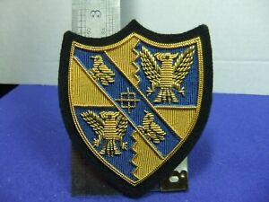 badge patch cambridge magdalene college coat arms university wire bullion