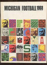 1968 NCAA Football Michigan Yearbook EX+