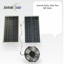 Amtrak Solar 80W Solar Attic Fan