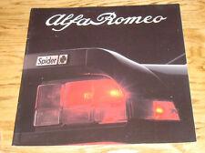 1987 Alfa Romeo Spider Veloce Quadrifoglio Graduate Deluxe Sales Brochure 87