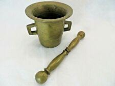 Vintage Brass Mortar and Pestle Herb Spice Grinder Medium Size
