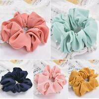 Ladies Chiffon Hair Scrunchies Hair Bow Hair Band Ponytail Holder Hair Ties Rope