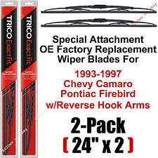 "93-97 Camaro Firebird Reverse-Hook Wiper Blades Set Of 2 - 24"" Trico 24-9R (x2)"