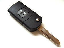 Mazda 2 3 5 6 2 Button Flip Remote Key Fob Case + Blank Right Blade Key