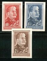 HUNGARY-1949/50. 70th anniversary of the birth of Joseph Stalin - Imperf. MNH!!