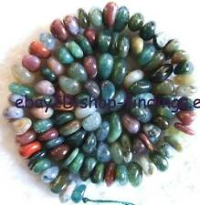 4×8 Flat Freeform Natural India Agate loose Beads 15''