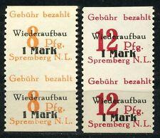 Spremberg reconstruction 1946 ** couples milieu ungezähnt Michel en 19-20 (s9352)