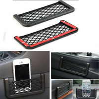 New Black Auto Car Storage Mesh Resilient String Bag Holder Pocket Organizer FT