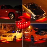 Newest 4 Red LED Strip Under Car Underglow Underbody Neon Light Kit For Vauxhall