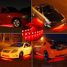 Newest 4x Red LED Strip Under Car Underglow Underbody Neon Light Kit For Benz